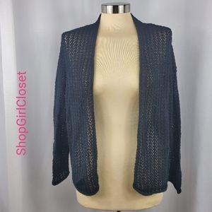 🆕️Jones NY Cardigan- Open Weave - Black - Large
